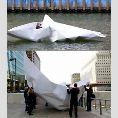"Video Instructions To Fold A ""human Size"" Paper Boat That Realy Floats And Sails"