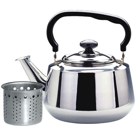 tea steel pot kettle stainless stovetop strainer heavy gauge stove alpine maker cuisine liters kettles teapots teakettle quality amazon wayfair