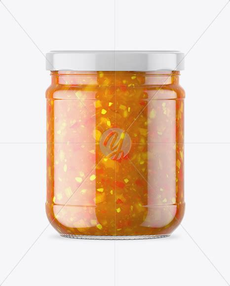 Free beer bottle mockup is now available. Clear Glass Jar with Sweet & Sour Sauce Mockup in Jar ...