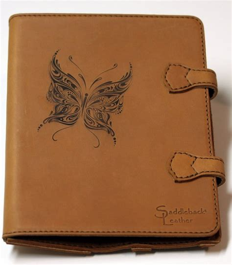 engraved saddleback leather ipad case   flash laser