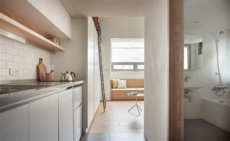 Tiny Scandinavian Studio Loft by Tiny Studio Apartment In Taipei City With Sleeping Loft