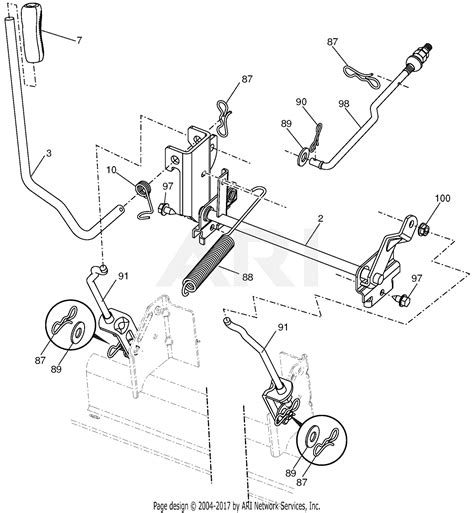 ariens     gear tractor parts