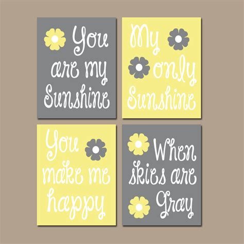 you are my wall decor yellow gray you are my wall canvas or prints