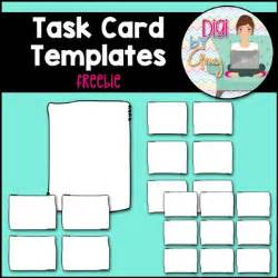 task card templates freebie  digi  amy teachers