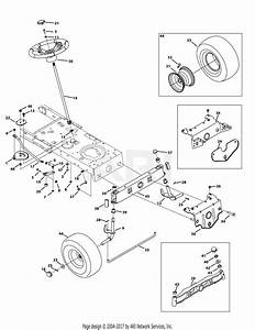 Mtd 13w277ss031 Lt 4200  2015  Parts Diagram For Front End Steering