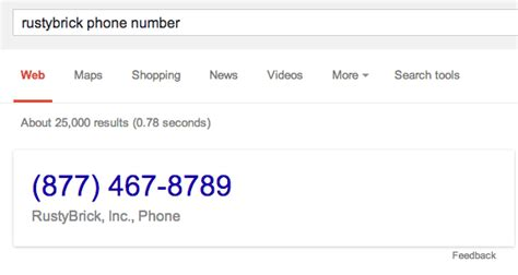 phone number lookup adds clickable phone numbers in search results