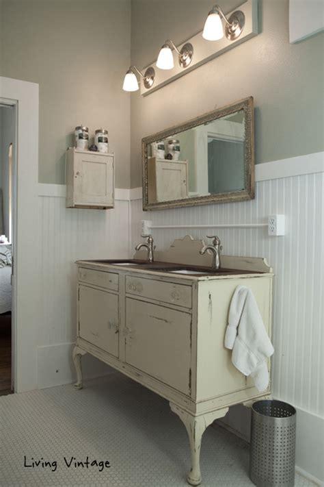 Vintage Bathroom Vanity Cabinet by Eclectic Home Tour Living Vintage Elko