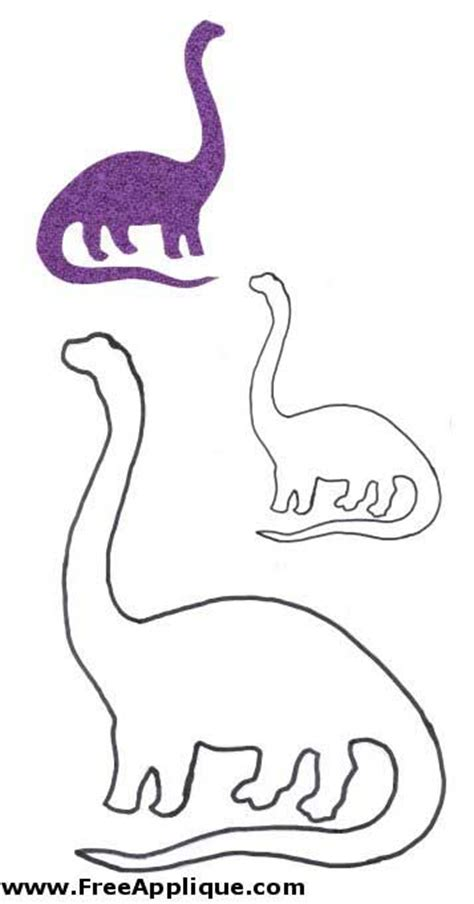 dinosaur patterns  trace dinosaur template printable pattern dinosaur