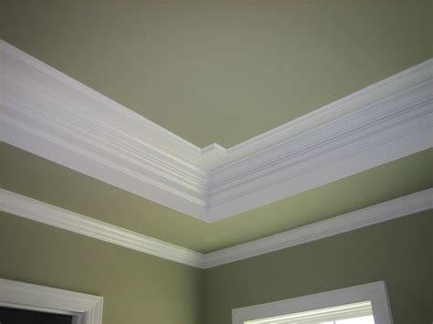 tray ceilings with crown molding crown molding painted