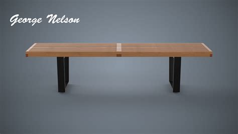 george nelson ls concept free bench george nelson 3d model