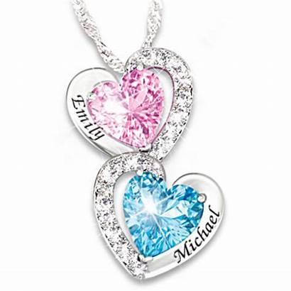 Necklace Heart Birthstone Personalized Beat Every