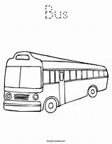 Coloring Bus Outline Noodle Tracing Built California Usa sketch template