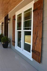 wood exterior shutters Best 25+ Wood shutters ideas on Pinterest | DIY exterior wood shutters, Garage door decor and ...