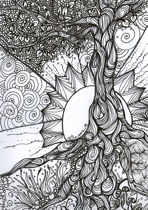 coloring book dream catcher  tree  life google