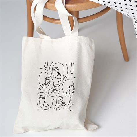 women canvas bags aesthetic art printing tote shopping bags casual cloth shoulder bag  girls