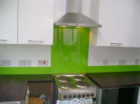 lime green kitchen splashback lime green glass splashback and matching glass upstands 7102