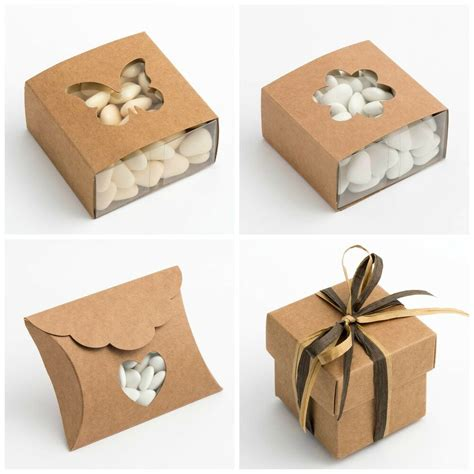 luxury diy wedding favour party gift boxes natural vintage