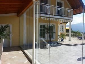 Vordach hauseingang mit seitenteil fenster schmidinger for Glasschiebewand terrasse