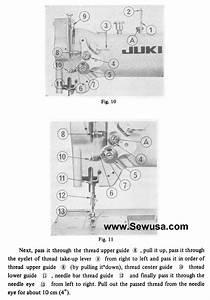 Juki 562 563 Walking Foot Sewing Machine Threading Diagram