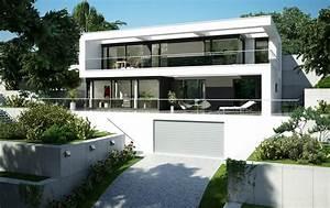 Häuser Im Bauhausstil : ganz moderner puristischer bauhausstil ~ Watch28wear.com Haus und Dekorationen