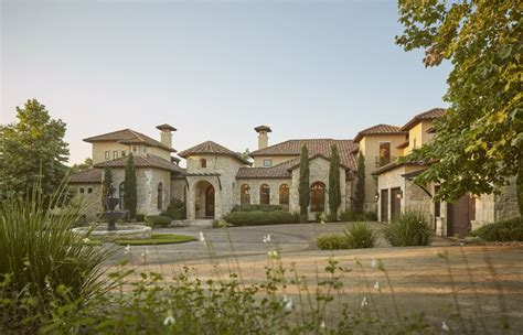 Stylish Mediterranean Exteriors by Tuscan Villa Mediterranean Architecture Stylish Exteriors