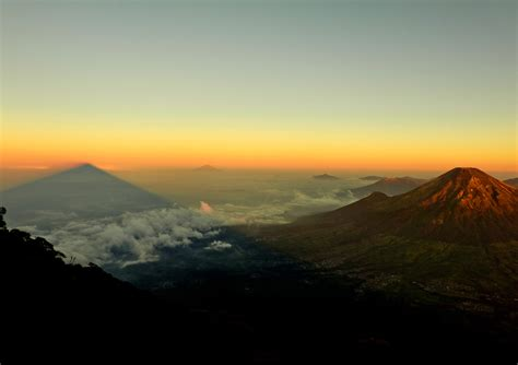 mountaintop landscape  indonesia image  stock