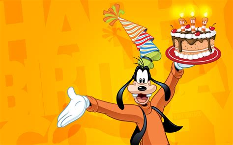 Happy Wallpaper Disney goofy celebrate happy birthday disney wallpaper 2880x1800