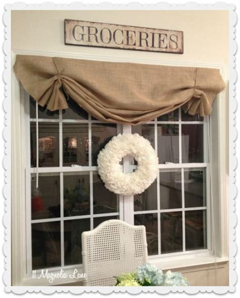 DIY Burlap Window Valance
