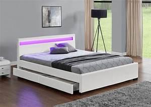 Lit 180x200 Blanc : enfield 140 lits led chambre ~ Teatrodelosmanantiales.com Idées de Décoration