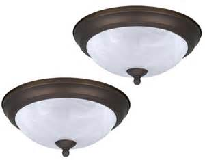 patriot lighting 174 pack 1 light gu24 11 quot chocolate brown flushmount at menards 174