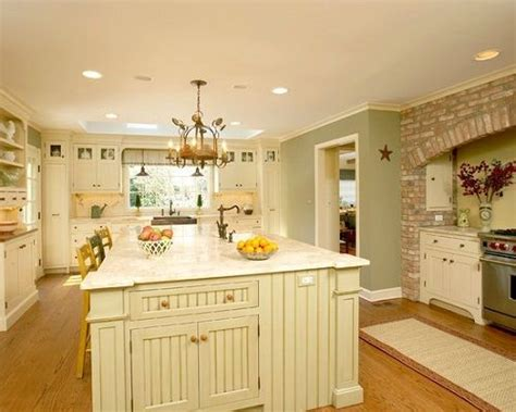 traditional white country kitchen painted color love