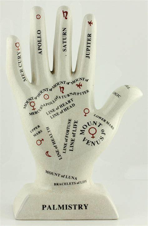 """Porcelain Palmistry Hand   11"""" POR CA448 U"""
