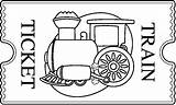 Train Tickets Clipart Ticket Polar Express Clip Carson Dellosa Coloring Template Rail Preschool Sketch Activities Vbs Learning Cliparts Templates Sketches sketch template