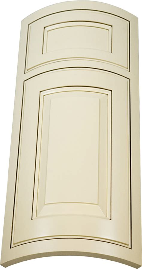 Curved Cupboard Doors - convex curved custom cabinet door shown with inset