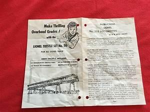 Lionel Postwar Original Operating Instructions  233