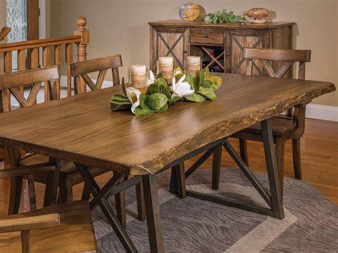 gaffney modern  edge dining table countryside amish