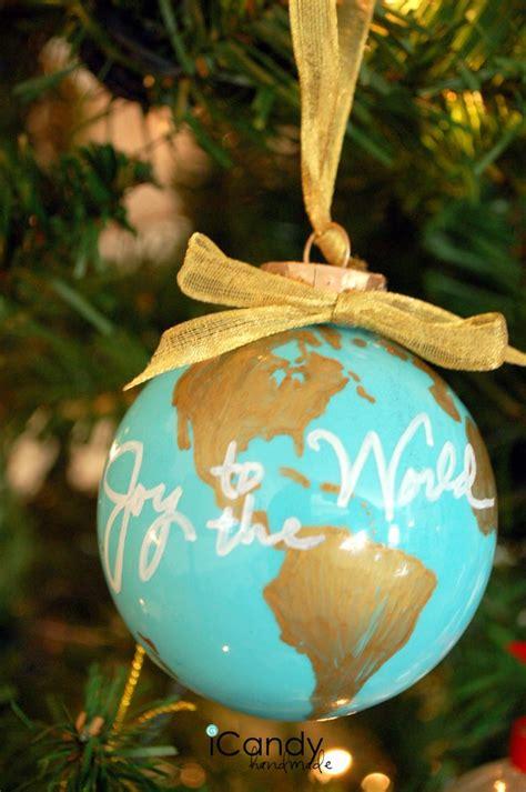 diy ornament idea  atamousser joy   world