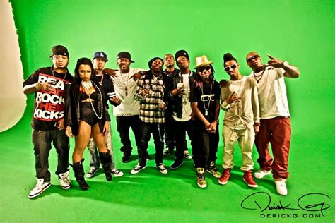 lil wayne spotted  young moneys roger  video shoot