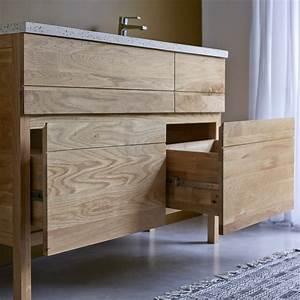 Meuble Salle De Bain : meuble en chne et vasques rsine easy duo vente meubles salle de bain bois tikamoon ~ Teatrodelosmanantiales.com Idées de Décoration