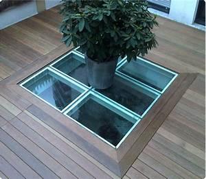 Puit De Lumière Toit Plat : terrasse en bois exotique ip versailles ~ Dailycaller-alerts.com Idées de Décoration