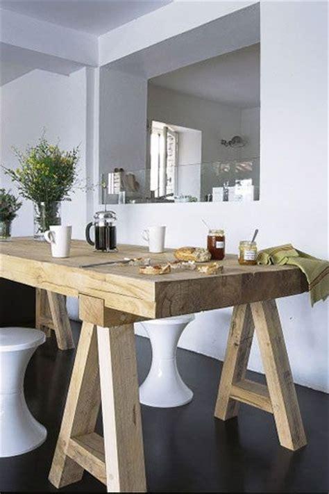 table cuisine murale avec pied awesome splendide table en bois brut dans salle manger