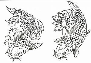 koi tattoo outline | koi fish tattoo enjoy ...