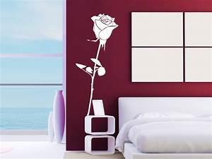 Romantische Bilder Für Schlafzimmer : wandtattoo romantische rose ~ Michelbontemps.com Haus und Dekorationen