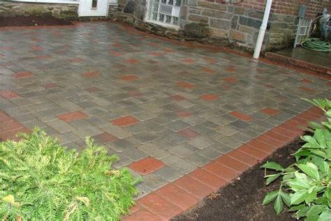 mixed paver sizes get out and stay out
