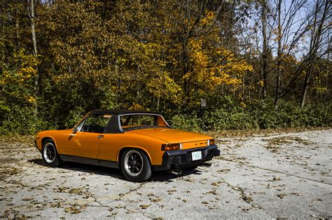 vintage orange porsche vintage corner porsche 914 premier financial services