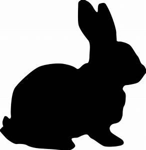 Clipart - Rabbit Silhouette
