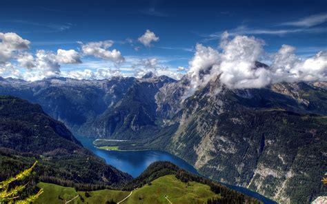 bavarian alps lake koenigssee  germany landscape