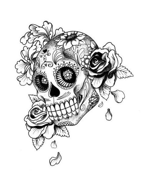 Skull&Roses | adult coloring pages | Ideias de tatuagens, Tatuagens aleatórias y Tatuagem crânio
