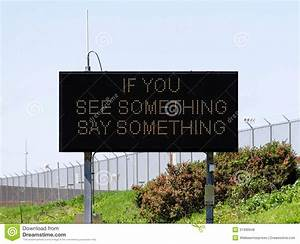 If You See Something Say Something Royalty Free Stock ...
