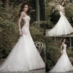 mermaid lace wedding dresses 2015 galia lahav bridal gowns mermaid spaghetti backless wedding dresses ebay